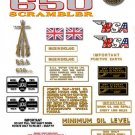 1970: A65 FS - BSA FIREBIRD SCRAMBLER DECALS - Set
