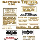 1969: T100R T100T - DECAL SET - Triumph Daytona Decals