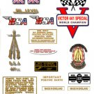 BSA B44VS: 1969-71 - DECAL SET- BSA Victor Special stickers (Adhesive transfers)