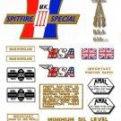 1967: A65S - BSA Spitfire Decals - Mk3