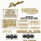 1964-66: Triumph Daytona Super Sports Decals - Daytona T100SS Restorers Decals