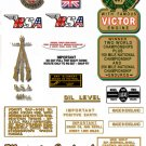 1966-67: BSA Shooting Star Decals - B44SS  Shooting Star Restorers Decals