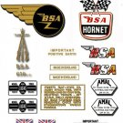 1965-66: BSA  Hornet Decals -  A65H Hornet Decal Set