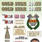 1971: B50SS - DECAL SET- BSA Gold Star
