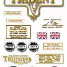 1973: T150V - TRIDENT DECAL SET - Triumph Trident