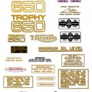 TR6 TR6C TR6R: 1968-70 - DECAL SET- Triumph Trophy