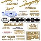 TR6C TR6SC: 1959-63 -DECAL SET- Triumph Trophy Special
