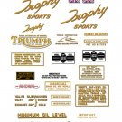 TR6 R: 1963-70 - DECAL SET - Triumph Trophy Sports