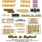 1973-74: Triumph Trophy Trail Decals - RESTORERS DECAL SET - Trophy Trail TR5T 500cc