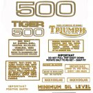 T100S: 1967-70 - DECAL SET- 500cc  Triumph Tiger