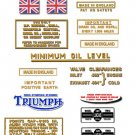 T 90: 1966-69 - DECAL SET- 350cc Triumph Tiger