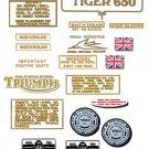 1971-73: Triumph 650 Tiger Decals - Triumph TR6, TR6R Restorers Decals ( 4 Speed version)