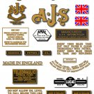 1945-49: AJS Model 7R,16,16C,18,18C Decals - AJS DECALS (Met Gold)