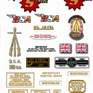 1962-65: BSA Sport Star Decals - BSA SS90 Restorers Decals