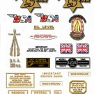 1961: BSA SS80 Decals - BSA Sport Star Decals- RESTORERS DECALSET