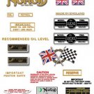 1973: Norton Commando 850 MkII Decals - Commando 850 Mk2 decalset