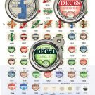 HISTORIC BRITISH ROAD TAX DISC 1921 to 2001 - Blanks for all years. Premium quality