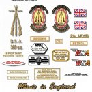 BSA B40 Star  1961 to 67 -  DECAL SET - BSA B40 350 Star Decals (stickers adhesive transfers)