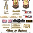 1958-63: BSA C15 Star Decals -  BSA C15 Restorers Decal Set