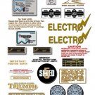 1980: Bonneville T140ES Decals -  NTV DECALS - Triumph Bonneville Decal set