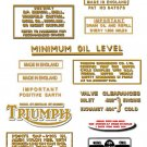 1969-70:  Bonneville T120 T120R Decals - Triumph Bonneville Decal set