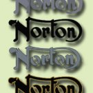 Norton Tank Decals - 2 x TANK BADGES - Norton Restorers Decals