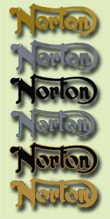 Norton Tank Decals - 2 x TANK BADGES - Norton Restorers Decals