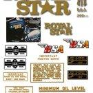 1969-70: BSA A50 Royal Star Decals - Royal Star Decalset