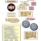 1974: Bonneville T140V T140RV Decals - RESTORERS DECALSET - Triumph Bonneville Decals