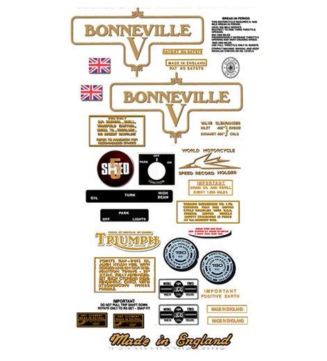 1973: Bonneville T120V Decals- RESTORERS DECAL SET- Triumph Bonneville Decals