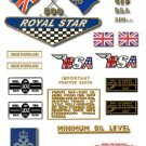 1968-69: BSA A50 Royal Star Decals - Queens Award to Industry version Decalset