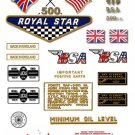 1968-69: BSA A50 Royal Star Decals - USA Export Models decalset