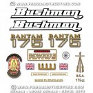 1969-70: BSA Bantam D175 Bushman Decals - Bantam D175B restorers decal set