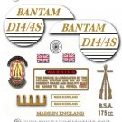 1968: BSA Bantam D14/4 Sports Decals - Bantam D14/4S Restorers decalset