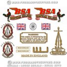 1954-55: BSA Bantam D3 Major decals- BSA Bantam Major restorers decalset