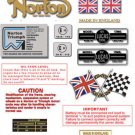 1975-77: Norton Commando 850ES Decals: Commando 850 ES DecalSet