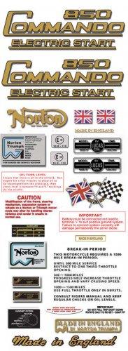 1975-77: Norton Commando 850ES Decals: Commando 850 ES DecalSet