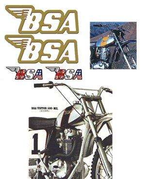 BSA Tank Decals - Gold filigree -1968 to 74 Models