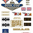 1968: BSA A50 Royal Star Decals - QUEENS AWARD - Restorers decal Set