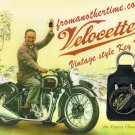 Velocette - Key Chain (Fob) - Real Leather British Vintage style
