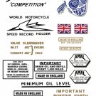 1959-60: Bonneville TR7B Decals - Triumph Bonneville Competition - Restorers decals