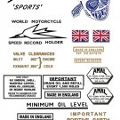 1959-60: Bonneville TR7A Decals - Triumph Bonneville Sports - Restorers decals
