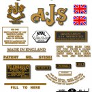 1953-54: 7R,16,16C,16S,16CS,18,18C,18S,18CS - AJS DECALS (Met Gold)