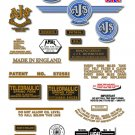 1957-58: 7R,16,16C,16S,16CS,18,18C,18S,18CS - AJS DECALS (Met Gold)