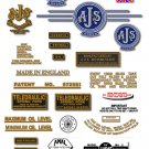 1961-63: 7R,16,16C,16S,16CS,18,18C,18S,18CS - AJS DECALS (Met Gold)