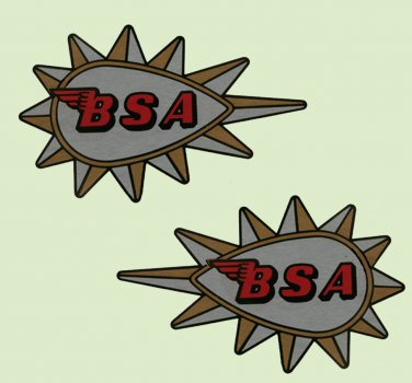 BSA Restorers - TANK DECALS - 1965 on