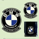 BMW Restorers Collectors Decals - RESTORED BY Your name of choice