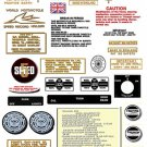 1973-75: Tiger 750cc twin -RESTORERS DECAL SETS - Triumph TR7 Tiger Decals