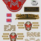1968-69: Matchless Twins Decals -RESTORERS DECALSET- G13CSR G15MkII Stickers (Adhesive transfers)