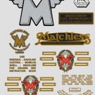 1962-67: Matchless Twin Decals -RESTORERS DECALSET- G13 G15 G31 Stickers (Adhesive transfers)